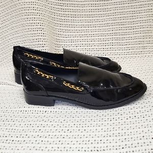 Steve Maddon Black Patent Loafers Size 8.5